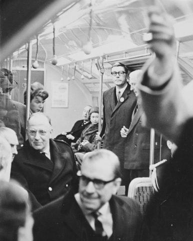 HM riding the Victoria Line