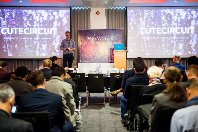 David McClelland introduces CuteCircuit at RE.WORK Future Technology Summit 2015