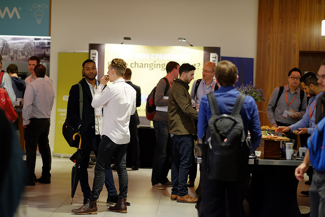 Delegates networking at the RE.WORK Future Technology Conference 2015