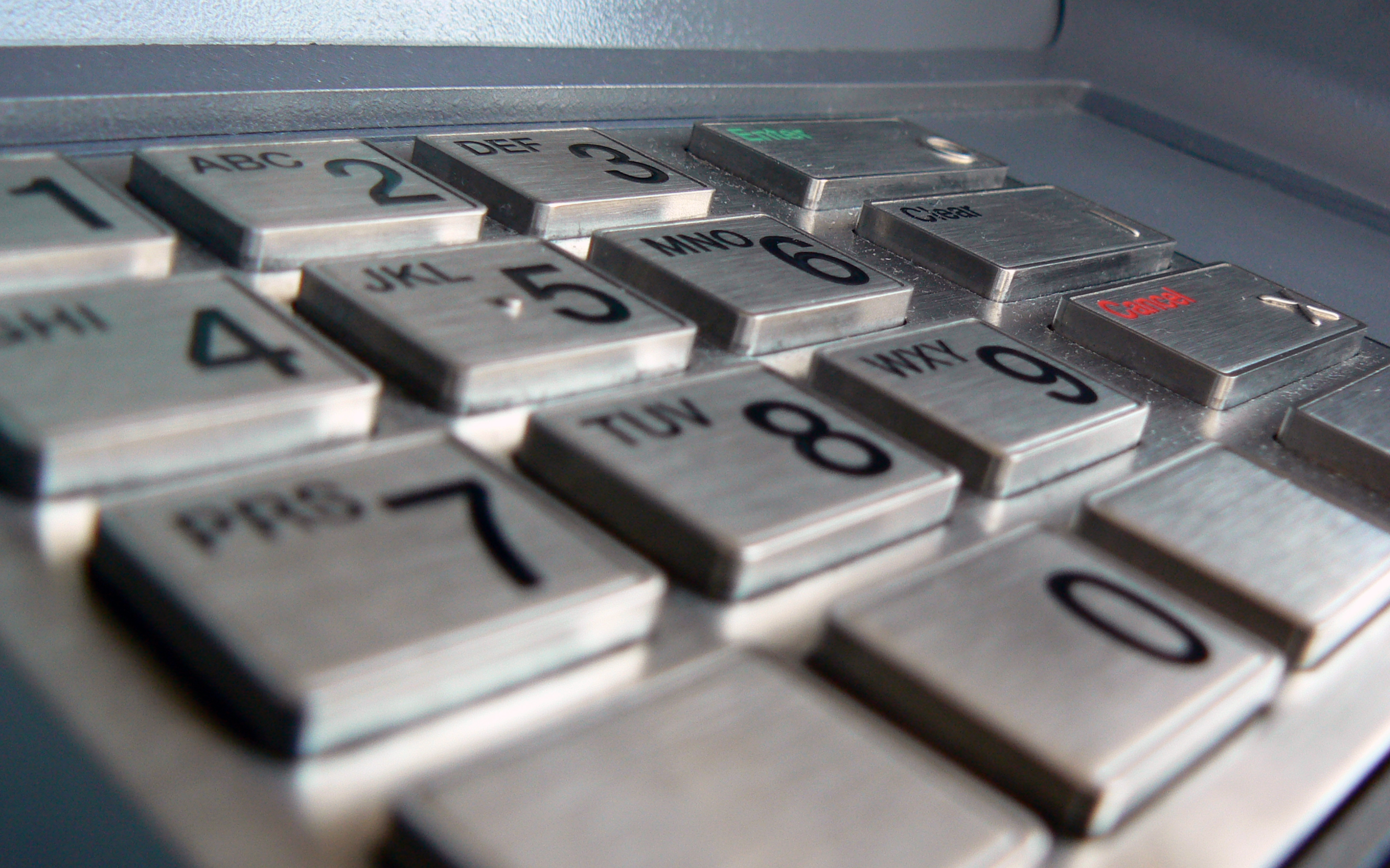 ATM Keypad - PIN invented by James Goodfellow