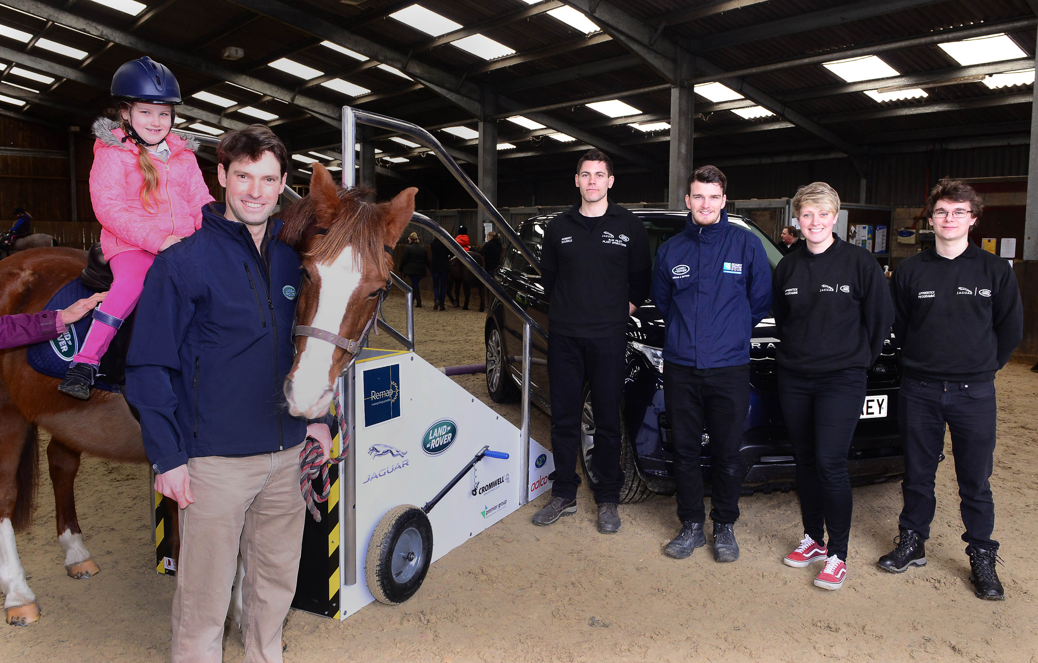 Harry Meade with Keely and JLR Apprentices