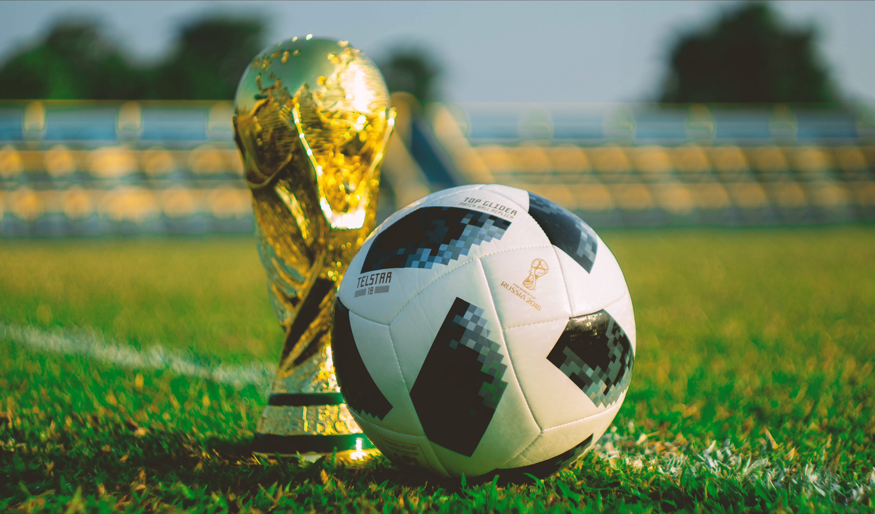 Image of a Football and the World Cup