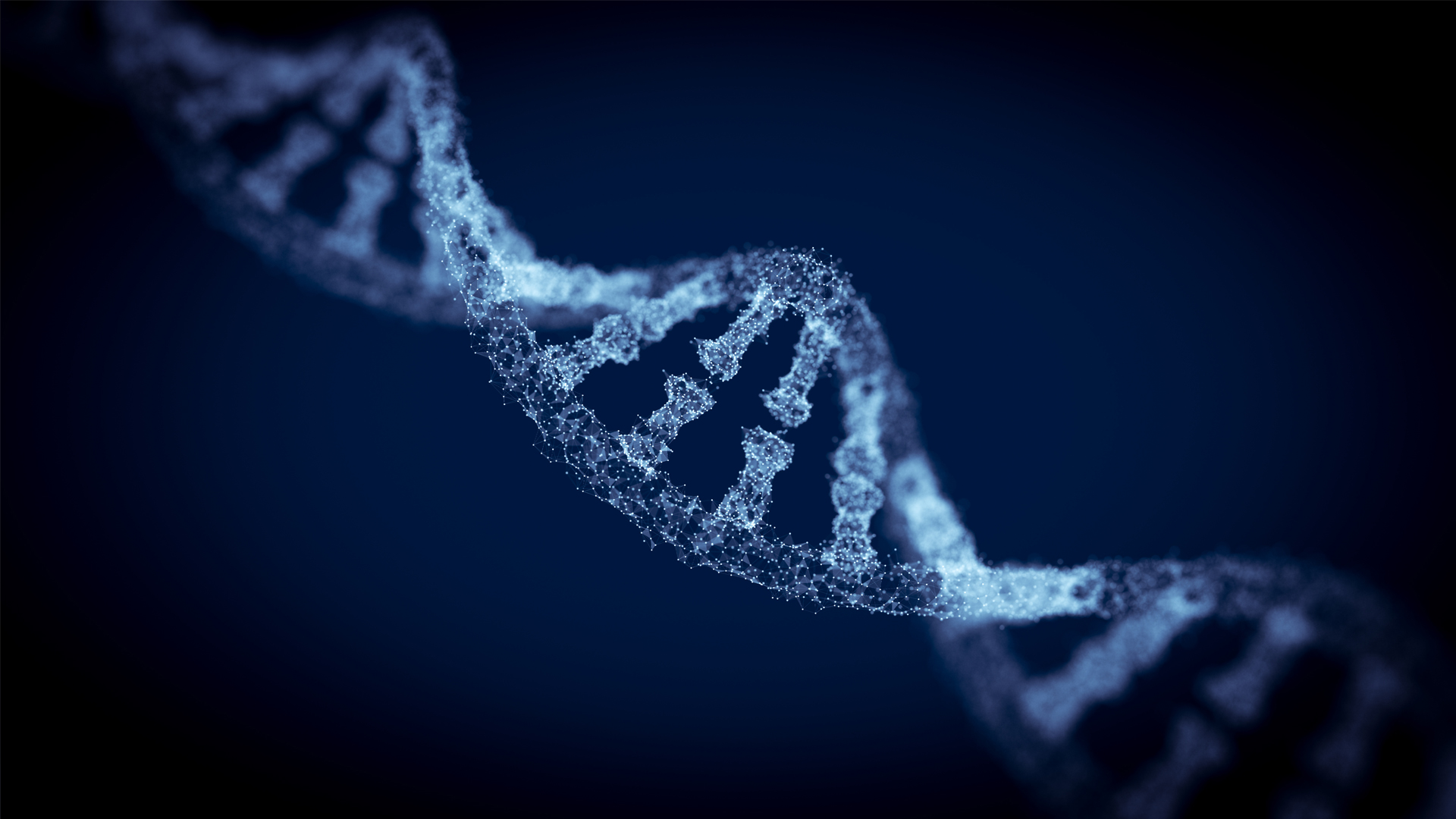 Image of a DNA Double Helix to represent DarkTrace's AI defence system as it mimics the human body.