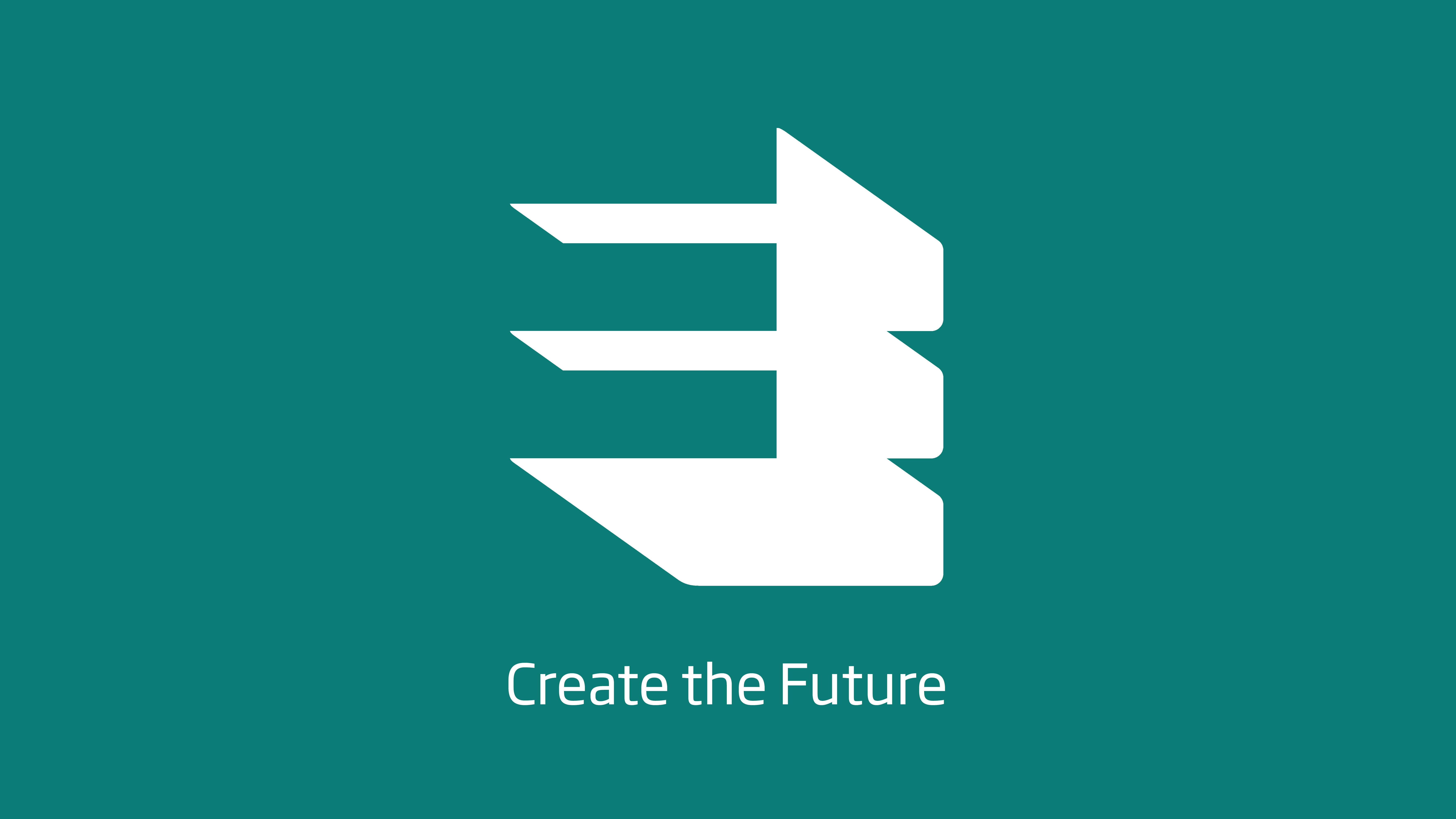 Graphic of the QEPrize logo with the words 'create the future' written underneath. The text and logo are white on a green background.