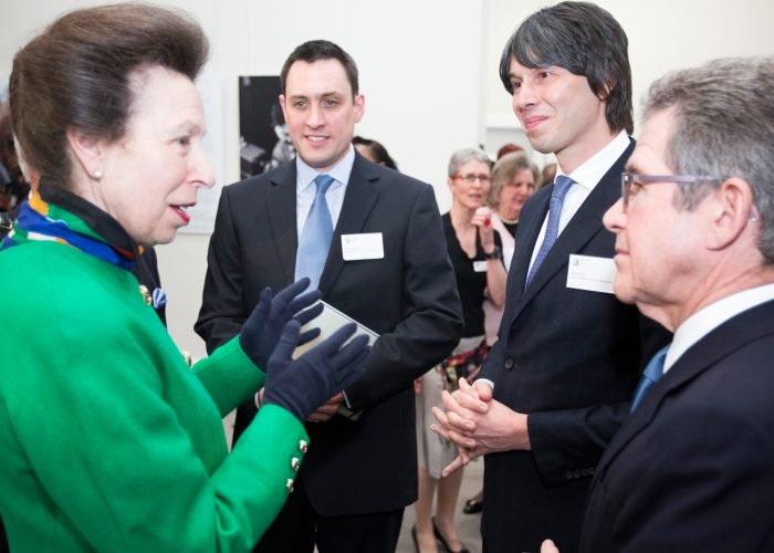 HRH The Princess Royal with Brian Cox Lord Browne and Paul Westbury