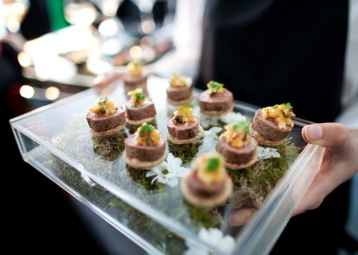 Canapes at the 2013 QE Prize celebration at the Tate Modern