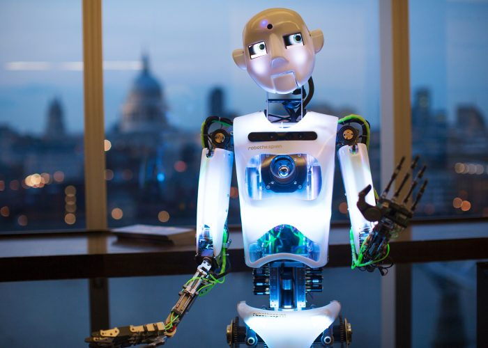Robothespian at the 2013 QE Prize celebration at the Tate Modern