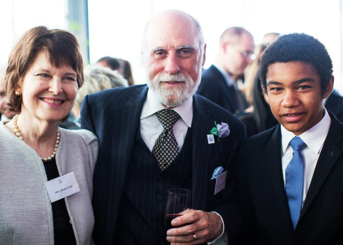 Vint Cerf and Sigrid Cerf at the 2013 QE Prize celebration at the Tate Modern