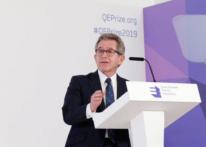 Lord Brown speaking at the 2019 QEPrize Winner Announcement