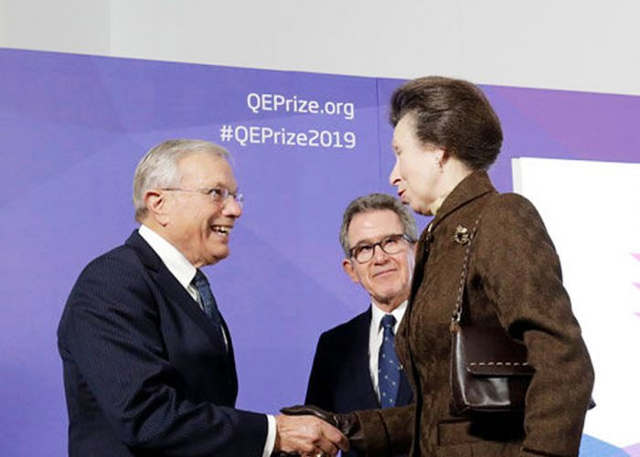 HRH The Princess Royal meets Dr Bradford Parkinson at the 2019 QEPrize Winner Announcement