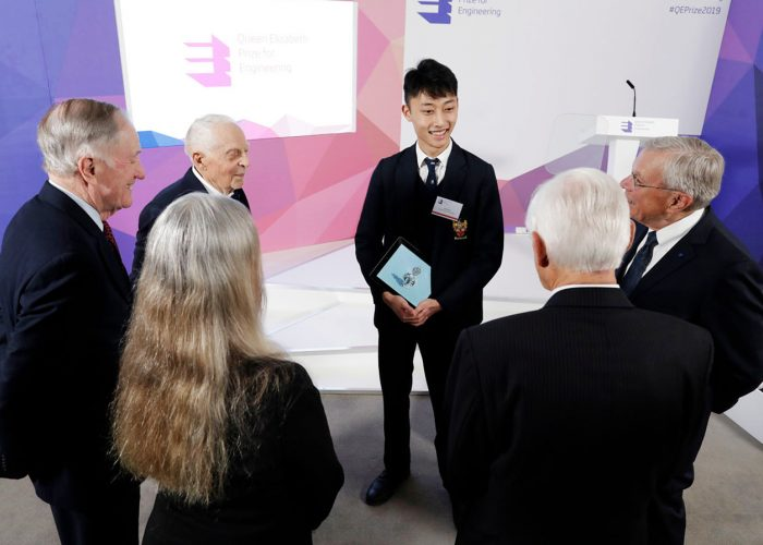 Create the Trophy winner Jack Jiang meets the QEPrize winners at the 2019 QEPrize Winner Announcement