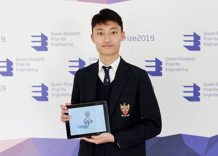 Create the Trophy winner Jack Jiang at the 2019 QEPrize Winner Announcement