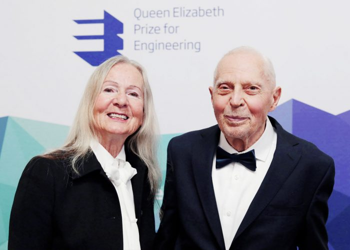 Anna Marie Spilker and Professor James Spilker at the 2019 QEPrize Winner Announcement