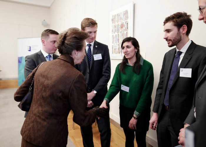 HRH The Princess Royal meeting QEPrize Ambassadors at the 2019 QEPrize Winner Announcement