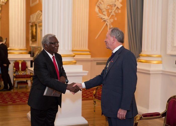 Calestous Juma meets the Lord Mayor of the City of London QE Prize Presentation 2015