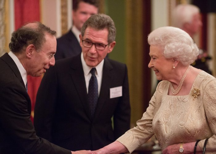 Dr Langer Lord Browne and HM The Queen 2015 QE Prize Presentation