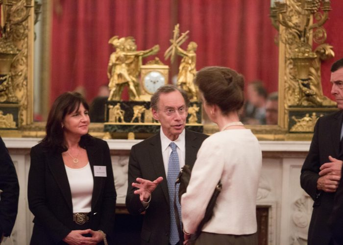Dr Langer meets HRH The Princess Royal 2015 QE Prize Presentation