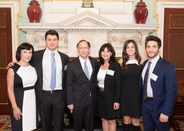 Dr Robert Langer with his family on the day of the 2015 QE Prize Presentation