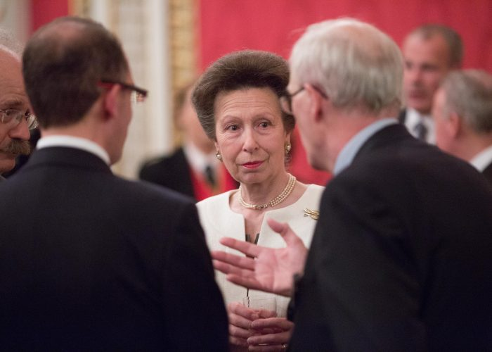 Guests meet HRH The Princess Royal at the 2015 QEPrize Presentation