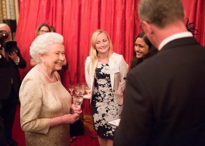 HM The Queen meets QEPrize Ambassadors at the 2015 QEPrize Presentation