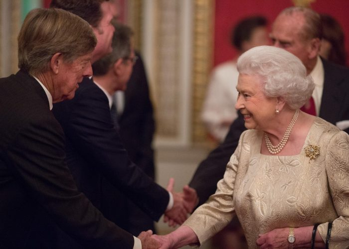 Lord Alec Broers meets HM The Queen at the 2015 QEPrize Presentation