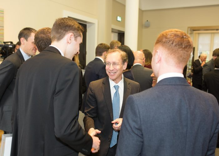 QEPrize Ambassadors meet Dr Robert Langer at the 2015 QEPrize Presentation