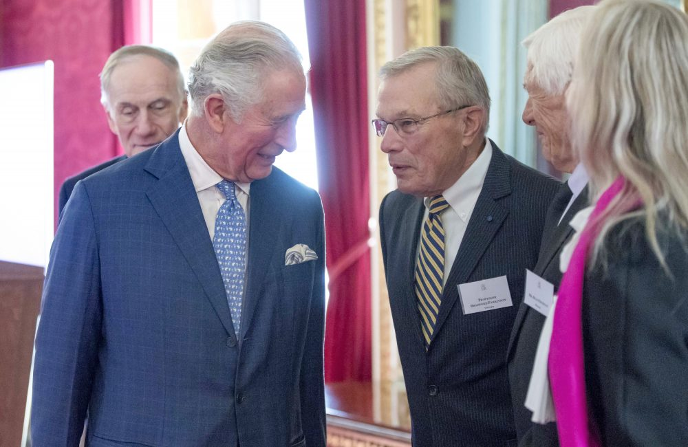 HRH the Prince of Wales speaks with the winners of the 2019 Queen Elizabeth Prize for Engineering